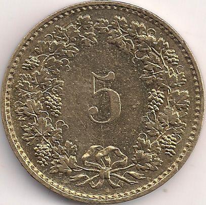 Wertseite: Münze-Europa-Mitteleuropa-Schweiz-Franken-0.05-1981-2015