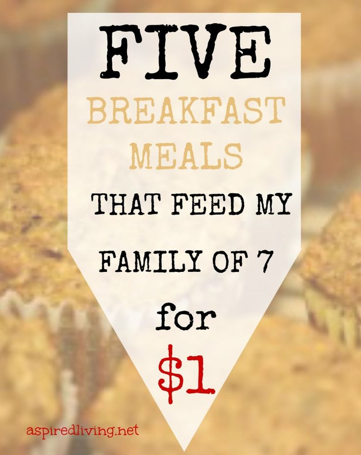 If the budget is tight and you need to make ends meet stretch or you simply like to save a buck, well I have some tasty recipes for you! Here are 5 Frugal Breakfasts that I serve to my family of 7 that cost me a total of $1. Not $1 per person but $1 for the whole meal.