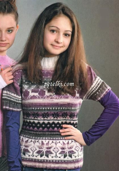 Свитер для девочки подростка