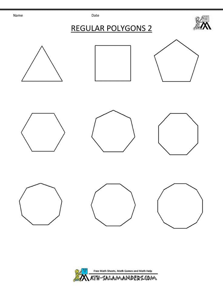 math worksheet : the 25 best regular polygon ideas on pinterest  geometry angles  : Area Of Regular Polygon Worksheet