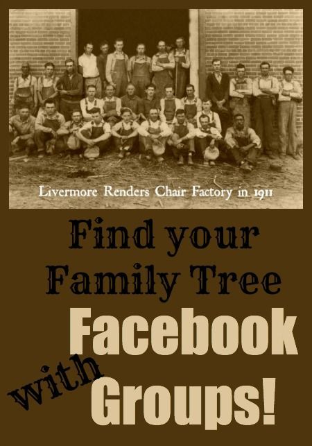 Facebook Groups are another great source for finding information for your family tree. Just go to Facebook and search for names, places, or events.