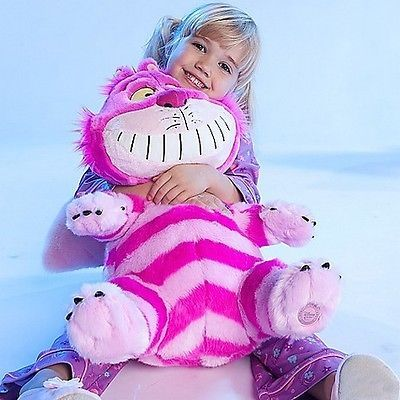 "New Disney Large Jumbo Big 20"" Seated Cheshire Cat Plush Toy Alice in Wonderland 