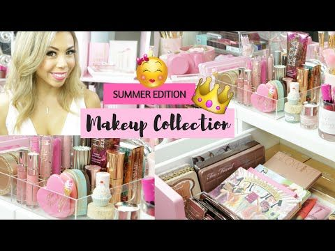 Summer Makeup Collection 2016- Decorating Tips and Vanity Tour- SLMissGlam♥♥ - YouTube