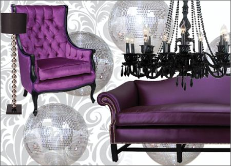 Purple And Black Furniture With Black And Silver Accents Would Make For A  Most Elegant, Sophisticated Look. Iu0027m Doing Good Getting To Throw In  Eggplant ...