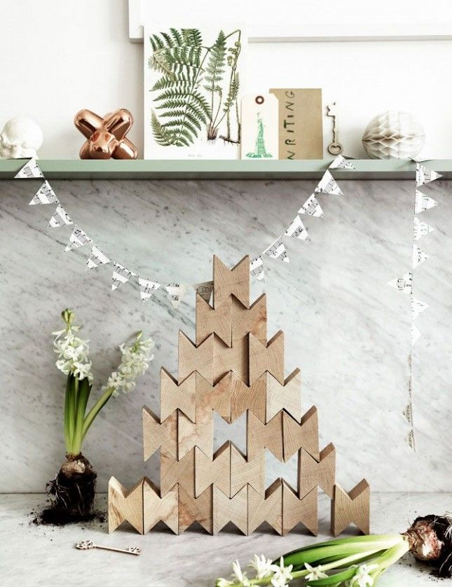 43 best non traditional holiday decor images on pinterest for Non traditional christmas tree ideas