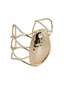 K. Amato Giant Oval Cuff - Gold K. Amato. $79.00