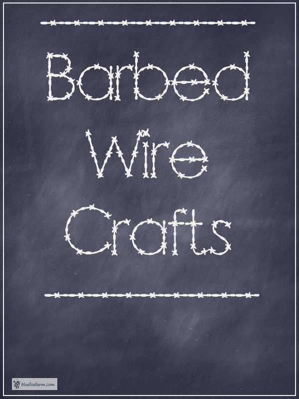 Barbed Wire Crafts - thorned and wicked... Rustic Crafts | Garden Art