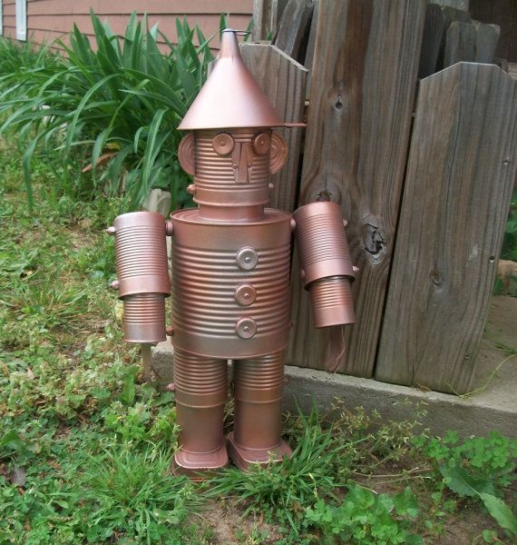 Wizard of Oz  Rusty Tin Man  Copper Tin Man by BirdysNest on Etsy, $45.00