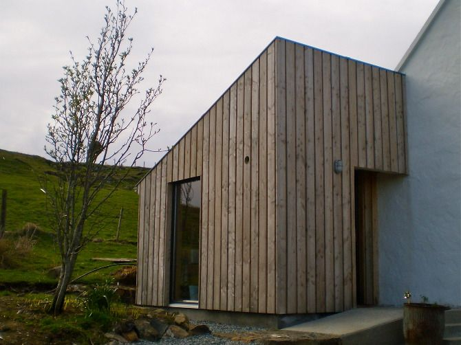 cladding & trim to rendered house Small Projects - Rural Design Architects - Isle of Skye and the Highlands and Islands