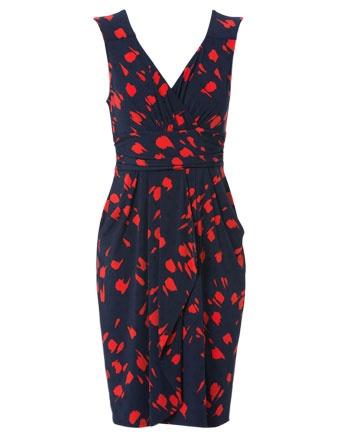 LEONA BY LEONA EDMISTON Vintage Paintbrush tulip wrap dress #cupday #myerspringfashion