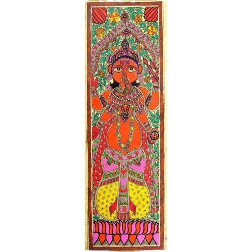 COLORED GANESHA http://www.indiancraftsmen.com/art-c4ca4238a0b923820dcc509a6f75849b/madhubani/colored-ganesha