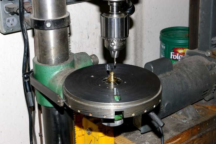 Drill Press Rotary Indexing Table With The Hole In The