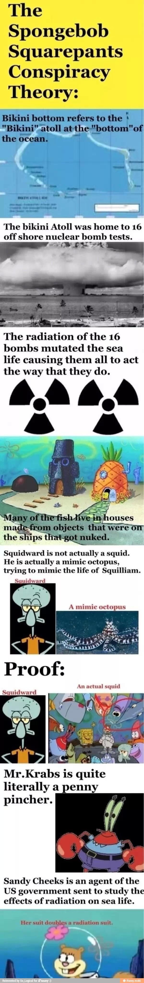 The spongebob squarepants conspiracy theory childhood ruined