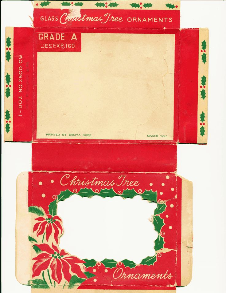 ornament box template | Christmas printables, Miniature ...