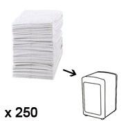 Recharge serviettes en papier, 250 pièces