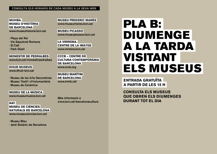 Sunday in Barcelona // consult museums with free entrance!