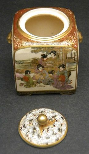 Fine-Japanese-Meiji-Satsuma-lidded-Jar