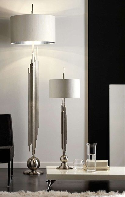 Signature Collection Grand Scale Tall Sculptural Chrome Pipes Lamp Partner Floor Lamps Wall Lights Available Luxury Hotel Contract Orders Welcome