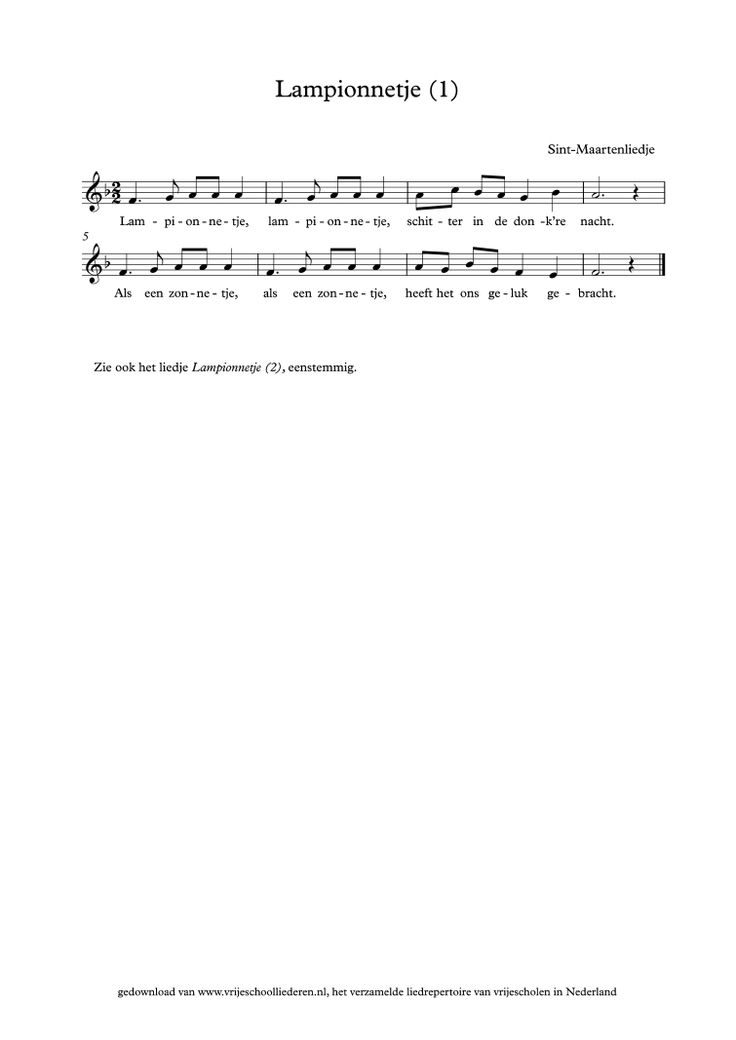 Lampionnetje (1) | Vrijeschoolliederen
