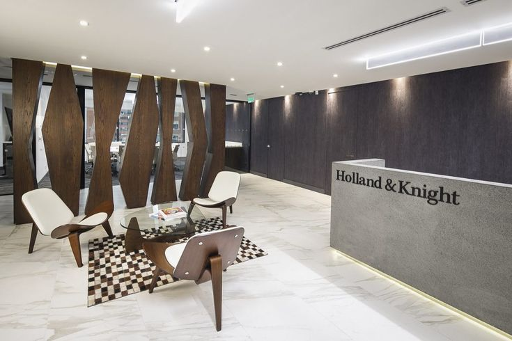 Bogota - Holland and Knight: For the stylish Bogotá offices of international law firm Holland & Knight, AEI's use of modern, contemporary decor and a complementary mixture of natural colours, help to create an inspiring workspace for employees.