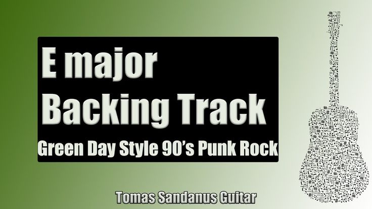 Guitar Backing Track Jam in E Major | Green Day Style 90's Punk Rock