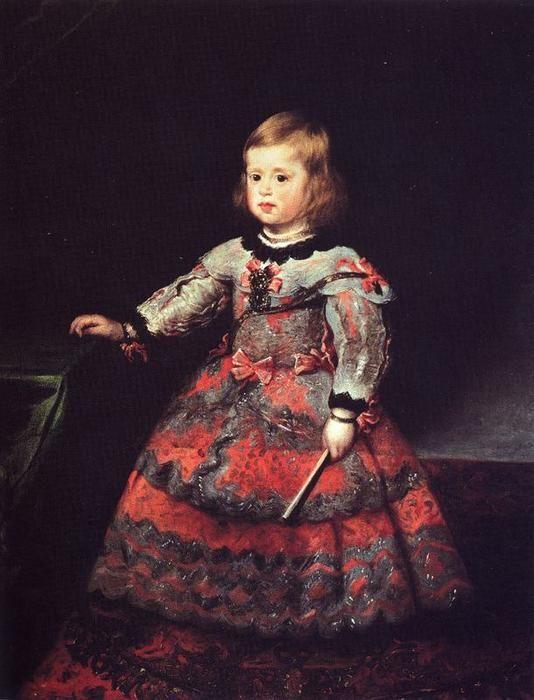 'Infanta Margarita 2', öl von Diego Velazquez (1599-1660, Spain)