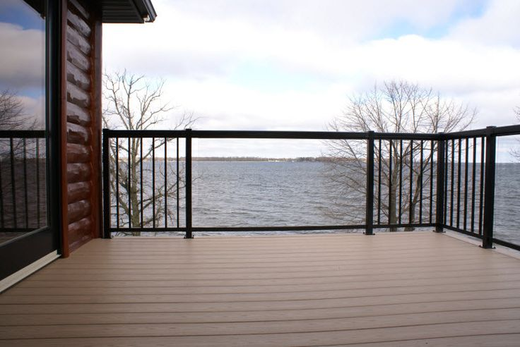 Deck Railing | aluminum and maintenance-free deck railing from Regal Rail; enjoy the view from your deck with tempered glass panels | Bayer Built Woodworks