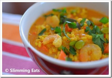 spicy prawn & vegetable risotto slimming world