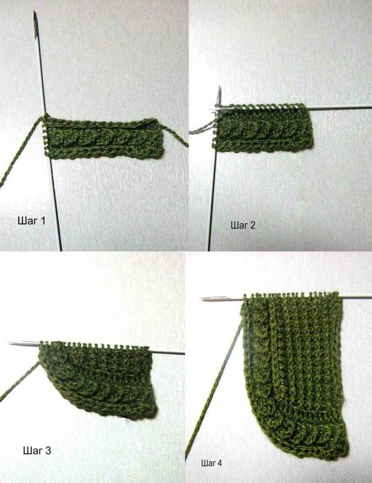 knitting cable ending.