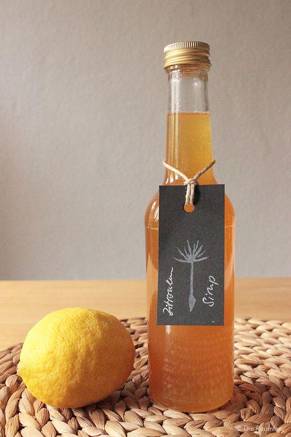 Zitronensirup mit Ingwer