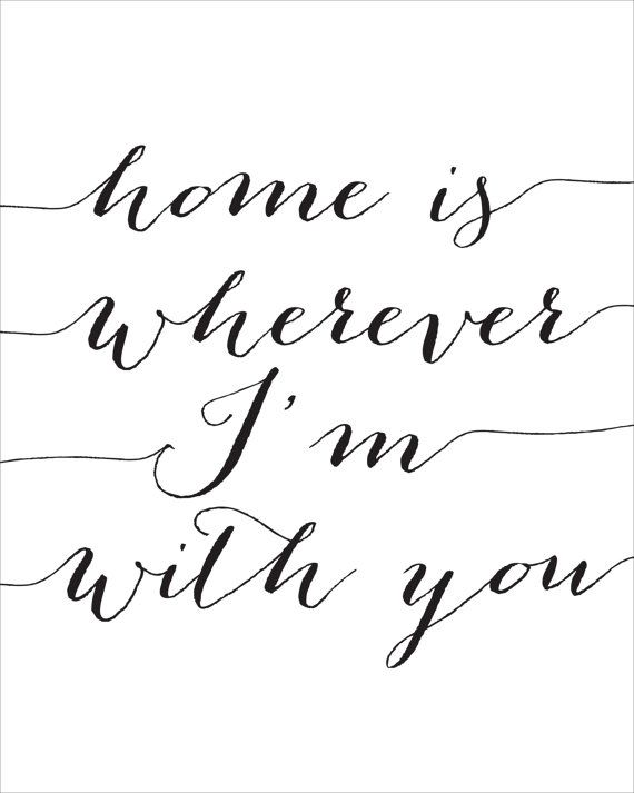 Home is Wherever I'm With You Printable INSTANT by CraftMei