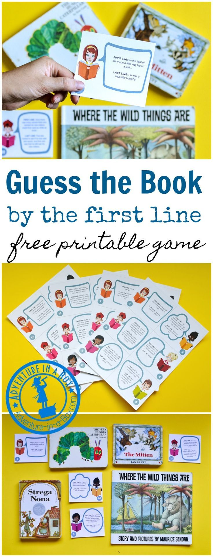 Uncategorized Printing Games For Kids 540 best homemade toys games images on pinterest dice guess the picture book by first line is a free printable game for kids who
