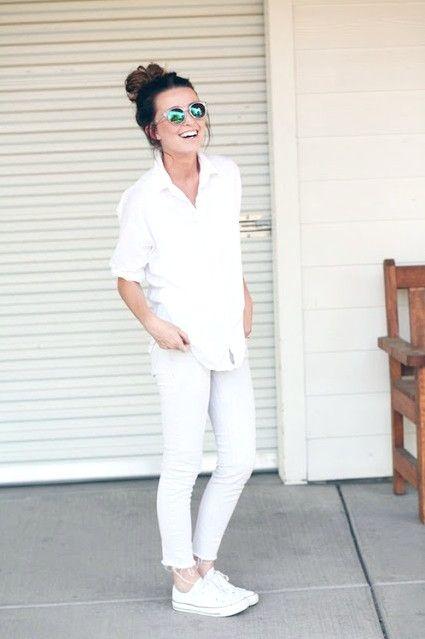 10 Möglichkeiten, saubere weiße Outfits für den Frühling 2019 zu tragen