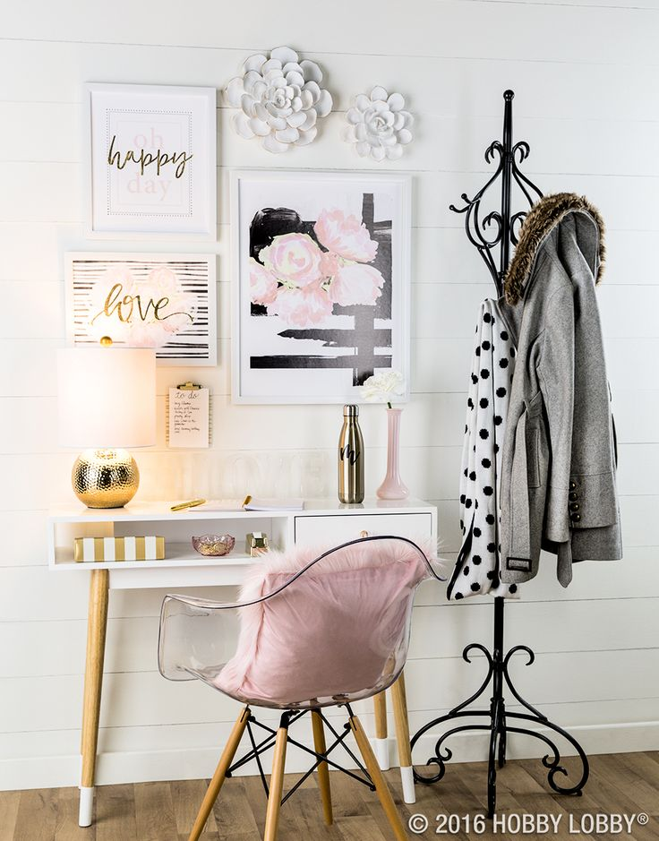 Create a stylish, sophisticated space with this darling decor! - 125 Best Office Decor Images On Pinterest
