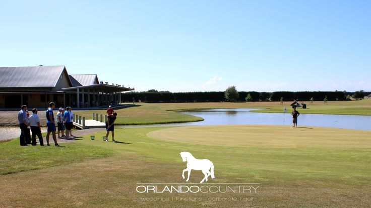 Putting practice on the 9th hole of the Orlando Country Course. #orlandocountry #golf #countryclub #lakehouse
