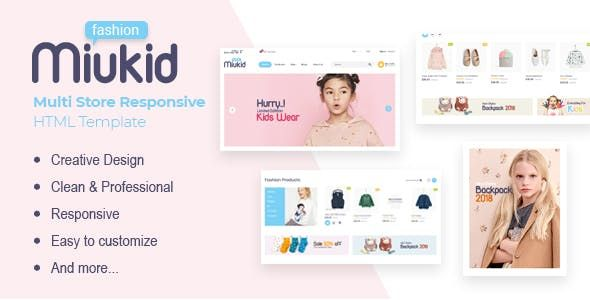 Miukid Is A Minimal And Modern Html E Commerce Template It Was