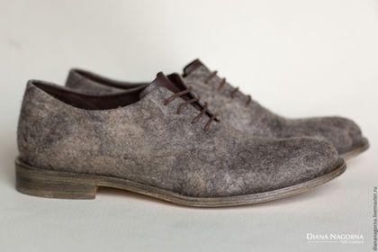 Купить или заказать Туфли войлочные 'Pilgrim' в интернет-магазине на Ярмарке Мастеров. Войлочные туфли, сваляны вручную. Собраны по современной сапожной технологии вручную профессиональным сапожником. Хорошо держат форму. Очень удобные . В этом, акционном, разделе представлены туфли только те , что есть в наличии : размер…