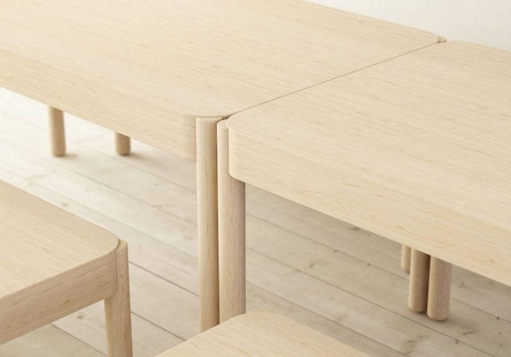 Wakufuru Brings Sound Absorption to Wood Tables and Benches - Design Milk //@studiogabe.furniture