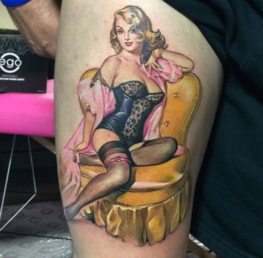 Pin By Jen Duffy On Tattoos: 138 Best Pinup Girl Tattoos Images On Pinterest