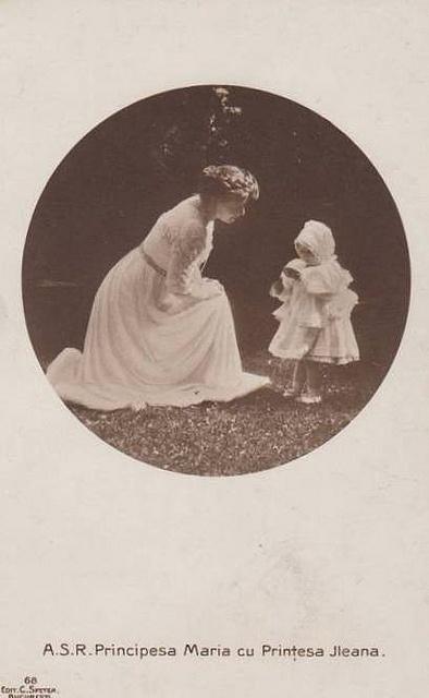 Princess Marie of Romania with her daughter Ileana