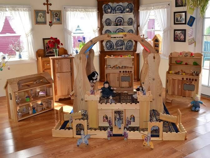 Elves and Angels wooden toys