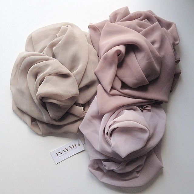 INAYAH | Mink Maxi Georgette Hijab + Nude Maxi Georgette Hijab + Flint Crepe…