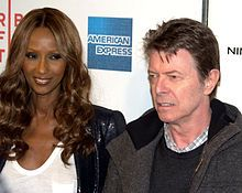 Married since 1992, Iman (model)  with her husband David Bowie in 2009  - Wikipedia, the free encyclopedia
