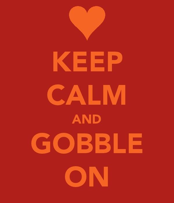 Keep calm and gobble on! Go hokies