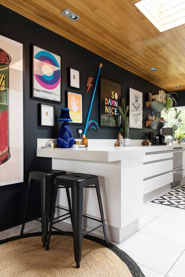 Art Covers All The Walls In This New Zealand Home Including Kitchen Full Tour On