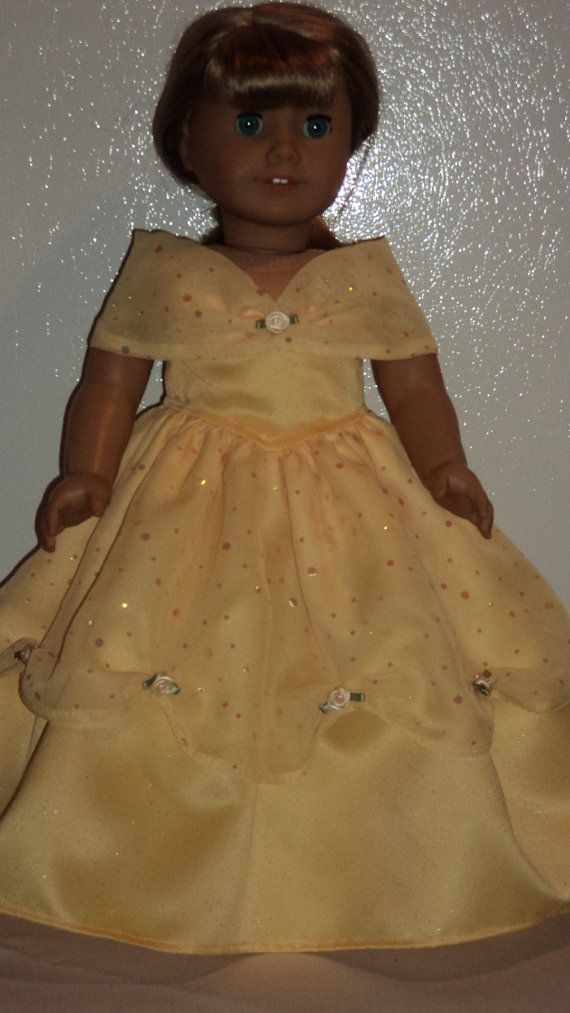 American Girl Doll Clothes  Belle Dress by susiestitchit on Etsy,
