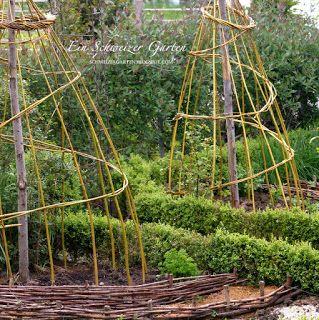 Weidengerüste für den Gemüsegarten - Ein Schweizer Garten