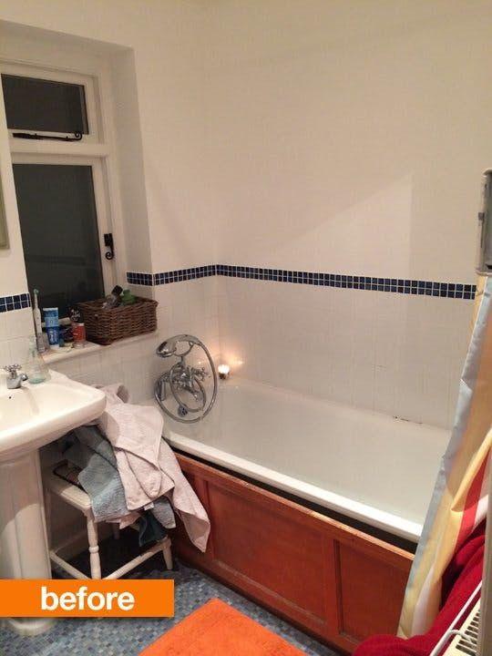 Before U0026 After: Naomiu0027s Beautiful British Bathroom