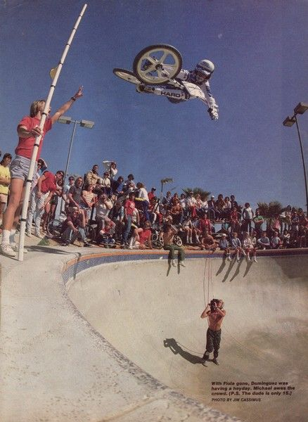 Mike Dominguez blasting a tabletop air at the Pipeline Bowl. (I'm walking down memory lane...)