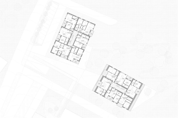 OPERASTUDIO - Competition - Home for elderly and social housing #Switzerland #floor #typical